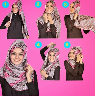 Tips Model Hijab Modern untuk Wajah Bulat image