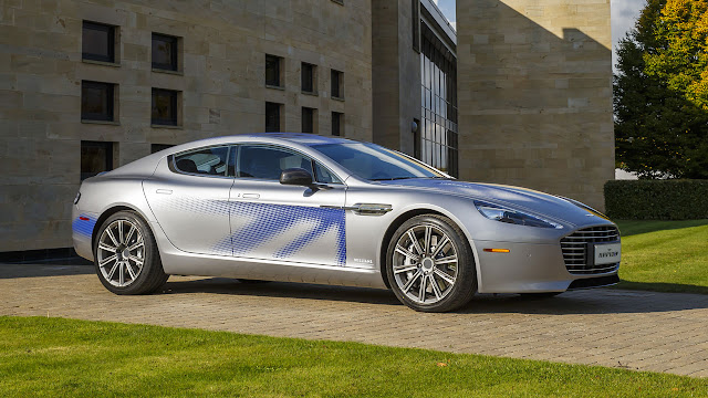 Aston Martin unveils Electric Concept Rapide S during state visit