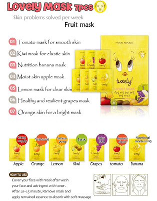 Nature Republic Lovely Mask Sheet Tweety Series Limited Edition