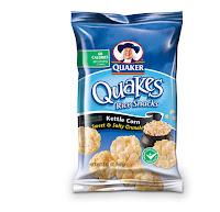 Quaker quakes rice cakes
