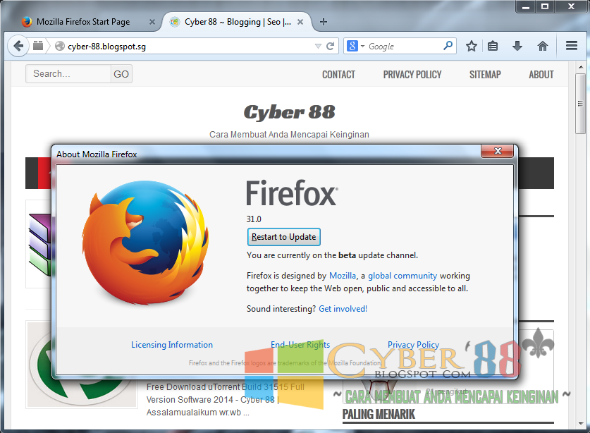 Mozilla Firefox 31.0 Beta 5 Full Version Terbaru