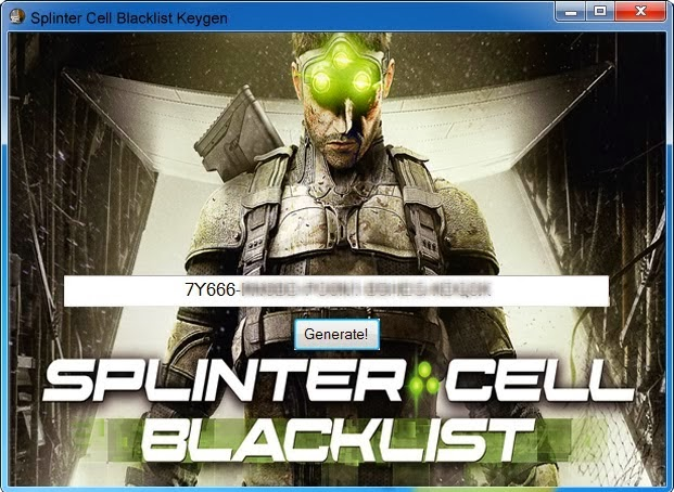Splinter Cell: Blacklist CD KEY Generator