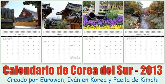 Fotos de Eurowon en Calendario de Corea del Sur 2013