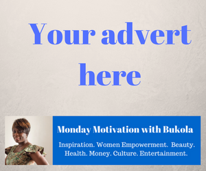 Advertise on Monday Motivation with Bukola