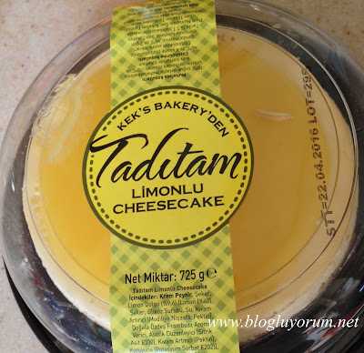 Kek's Bakery Tadıtam Limonlu Cheesecake 1