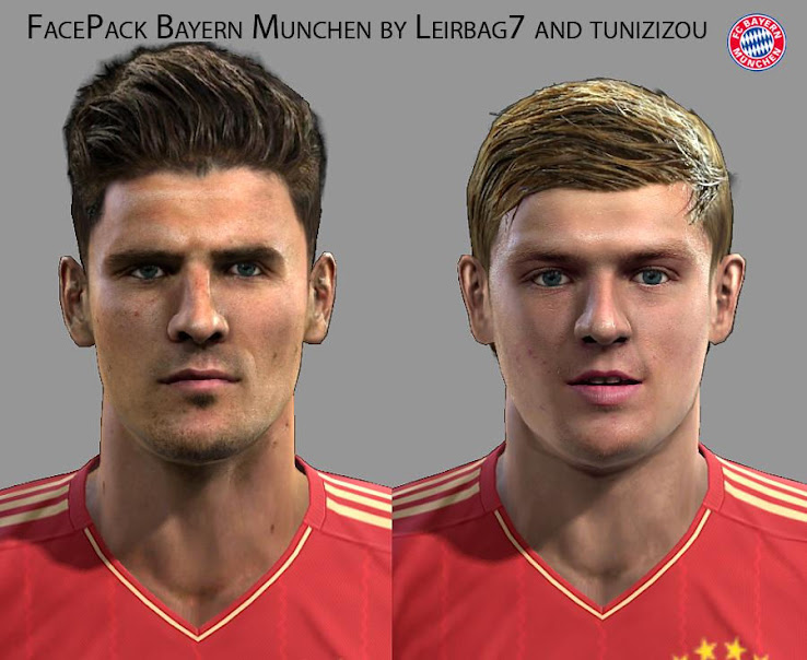 PES 2013 Mario Gomez & Toni Kroos Faces by Leirbag7 & tunizizou