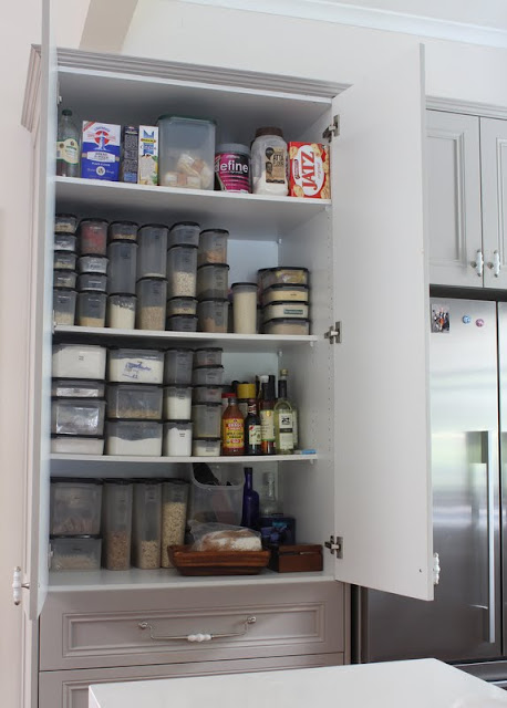 pantry storage tupperware ideas
