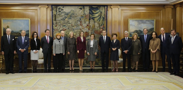 Queen Letizia Attended Several Audiences At Zarzuela Palace