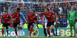 Video Cuplikan Gol Cardiff VS Man City 3-2