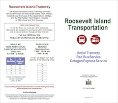 Roosevelt Island Transportation Tram & Red Bus Schedule