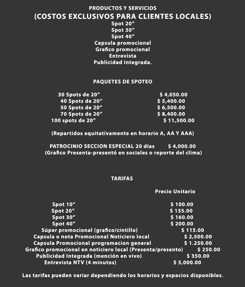 Costos de Servicios Publicitarios