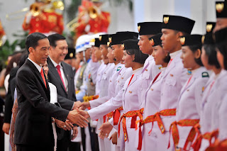 68 Nama Paskibraka Nasional 2015 yang Bertugas di Istana Negara