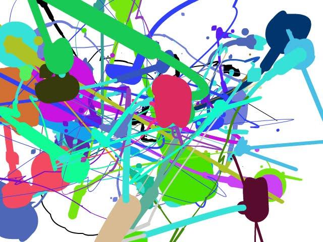 Un silencio precario: Manchas de pintura