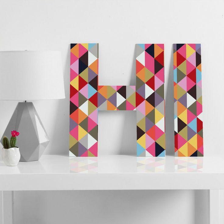 decorar con letras el recibidor