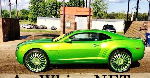 Ace 1 Memphis Candy Green Chevy Camaro On 26 Quot Borghini Rims