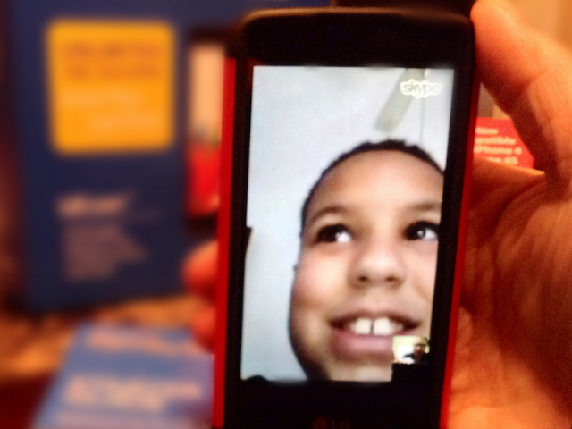 Skyping using  #FamilyMobile PLUS