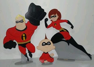 Kids Party Decoration, The Incredibles, centerpieces
