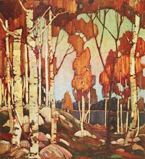 Tom Thomson painting - Decorative Landscape Birches
