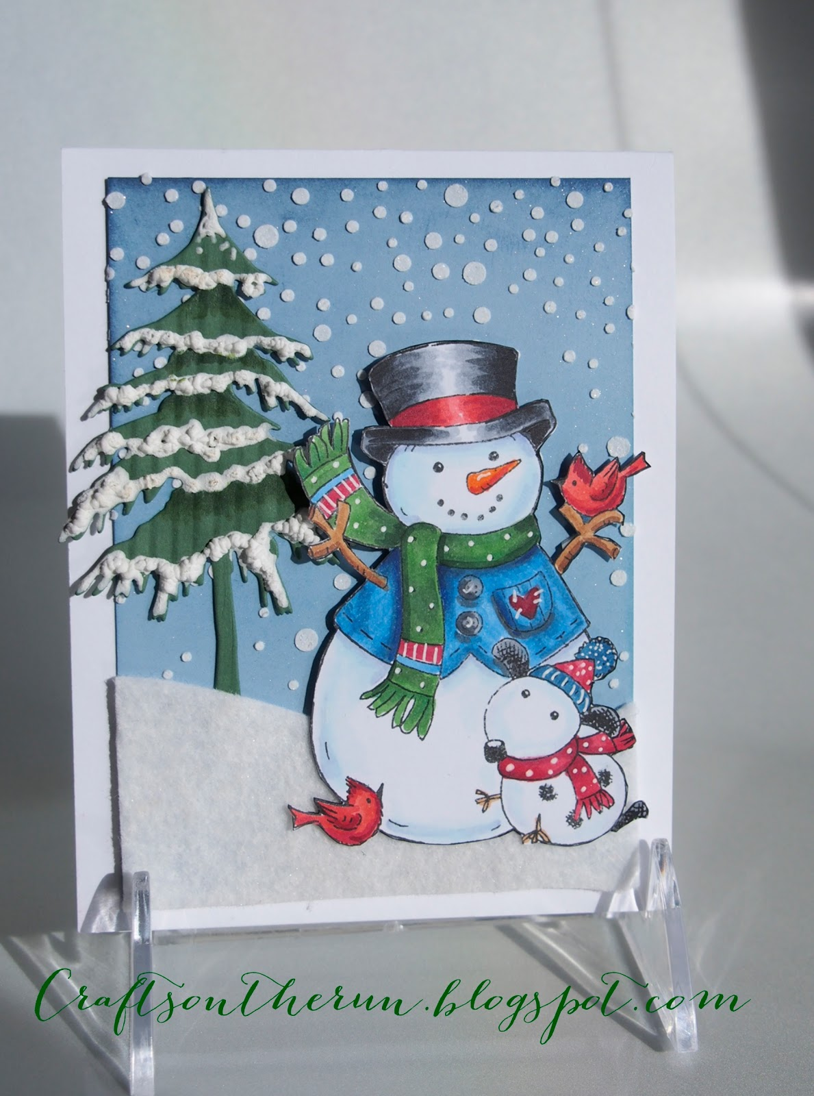 Christmas card, snowman, SP Stamps