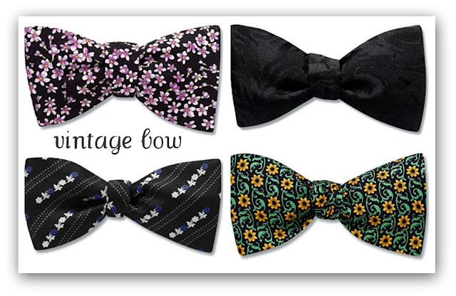 weddings the joys and jitters vintage bow ties on sale