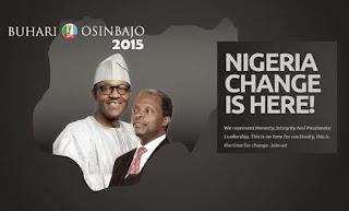 Buhari and Osinbajo Change campaign