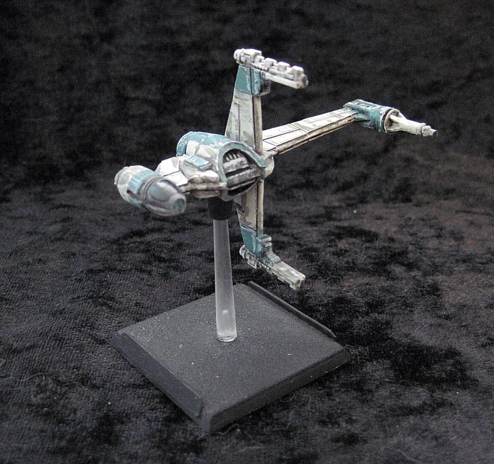 invivos: X-Wing Miniatures game: Rebel Mk2 B-Wing (scratchbuild)