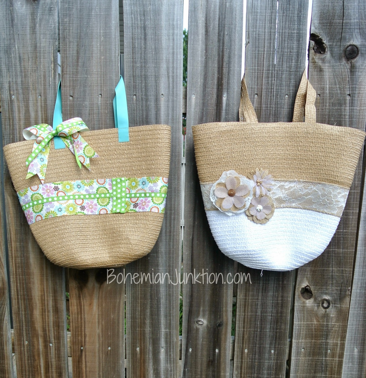 Bohemian Junktion shared her adorable Target bag Makeover featured at One More time Events.com