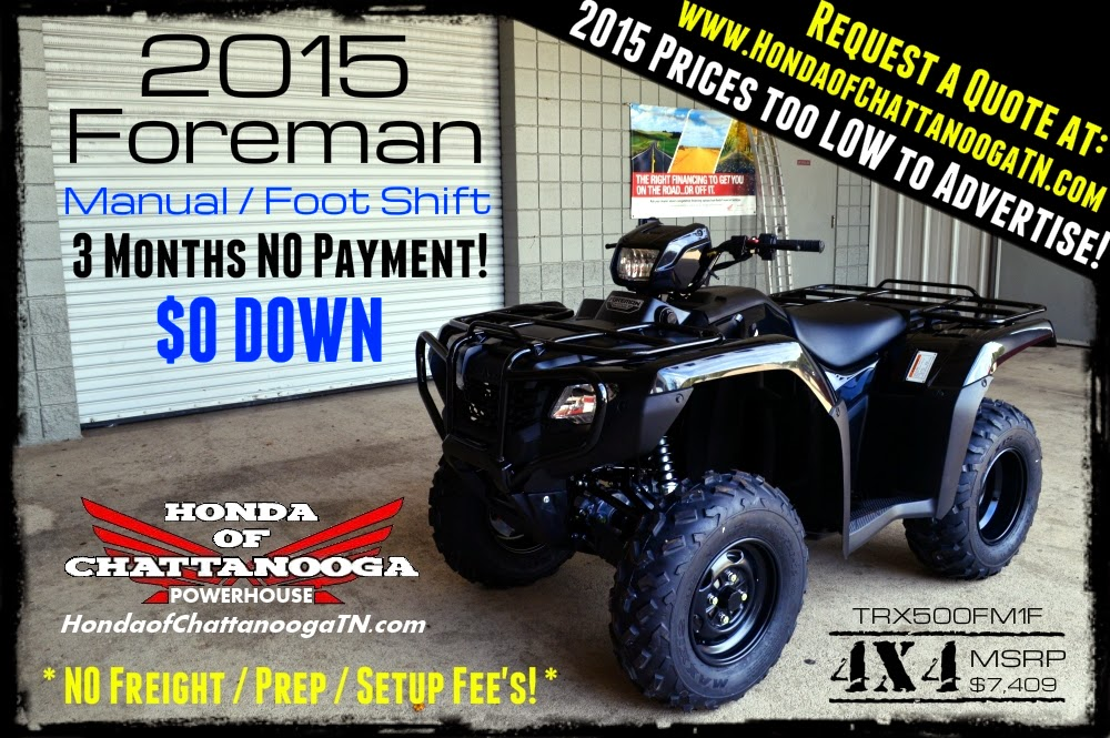 Attractive 2015 Honda Foreman 500 For Sale TN GA AL NC KY Area ATV Dealer / TRX500FM1F
