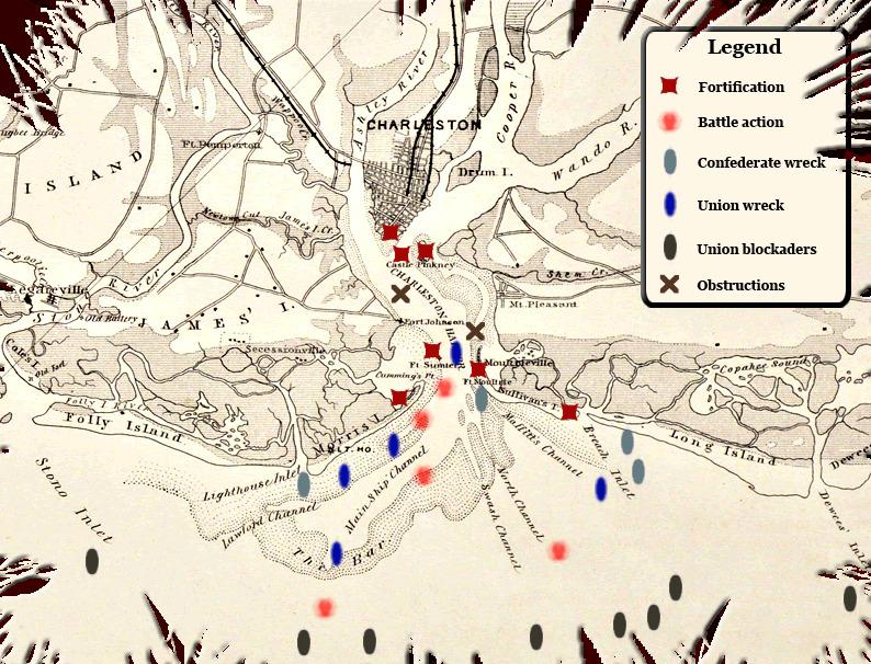 Mapping Charleston39s Civil War Naval Battlefield  The