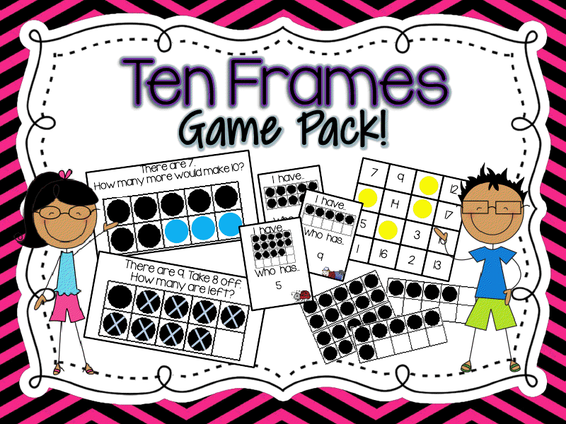 http://www.teacherspayteachers.com/Product/Ten-Frames-Game-Pack-Common-Core-Aligned-492725