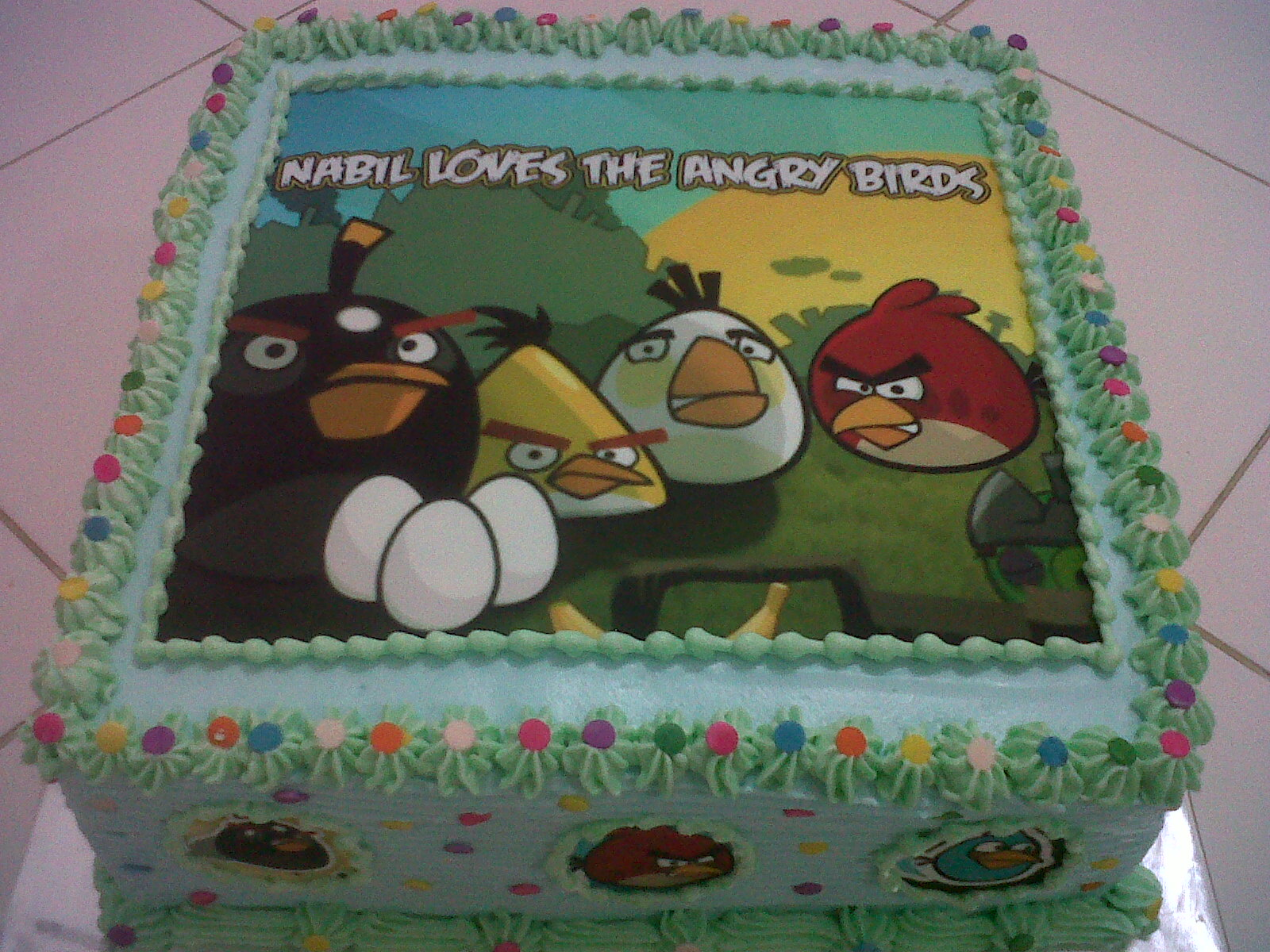 Joris Kitchen Angry Bird Birthday Cake for Nabil