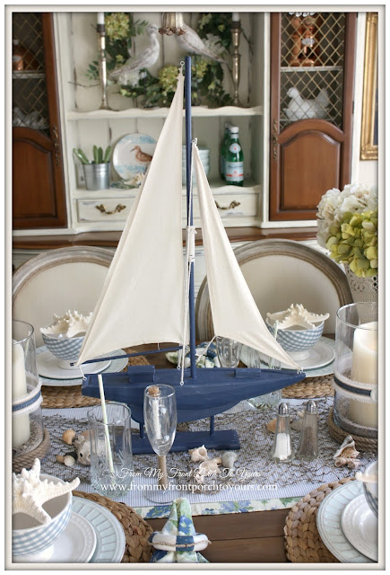 Beach Decor-Sailboat-Nautical Dining Room- From My Front Porch To Yours