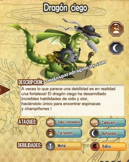 imagen de las caracteristicas del dragon ciego