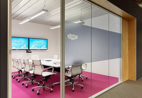 New Skype's Modern & Stylish Offices in Palo Alto Seen On www.coolpicturegallery.us