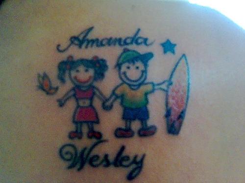 Tatuagem nome e desenho