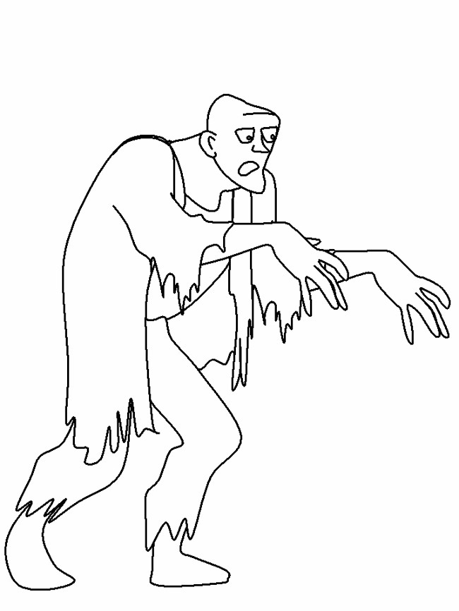 Zombie Princess Coloring Pages : Free zombie printable coloring pages