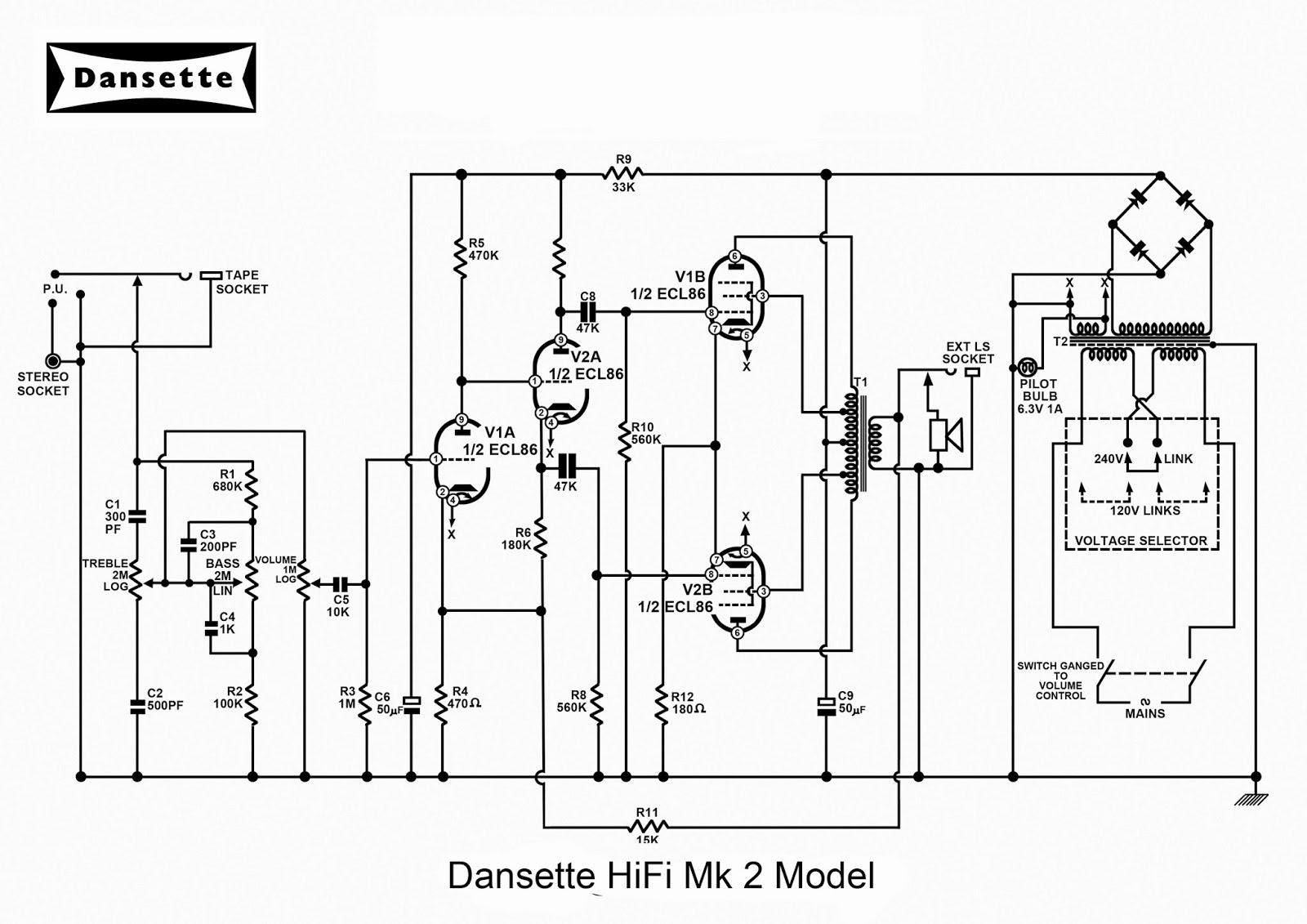 Circuit Diagram Of Hi Fi Amplifier 18w Stereo Hifi Audio Tda2030 Eeweb Community Dansette Workshop A4 Diagrams For Major Deluxe Mk2