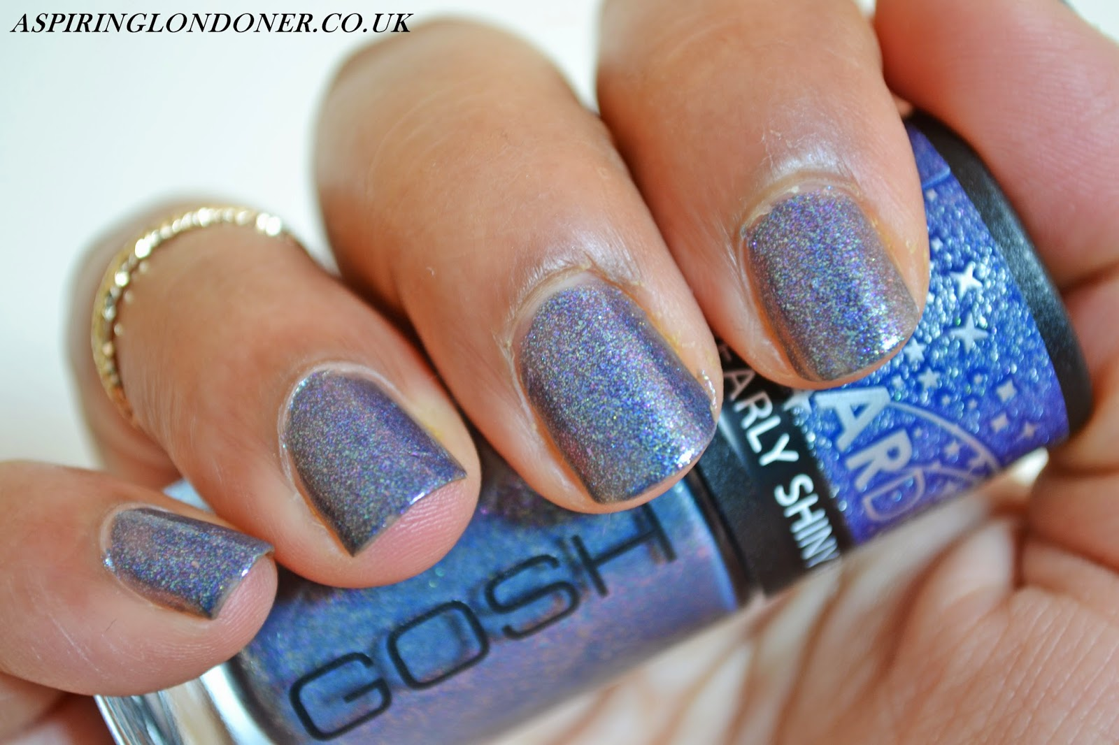 GOSH Stardust Nail Lacquers 631 Million Stars Review & Swatches - Aspiring Londoner