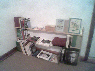 Here, the finished rough design is shown filled with most of my book collection, down to less than 20% of its prior typical size . . .