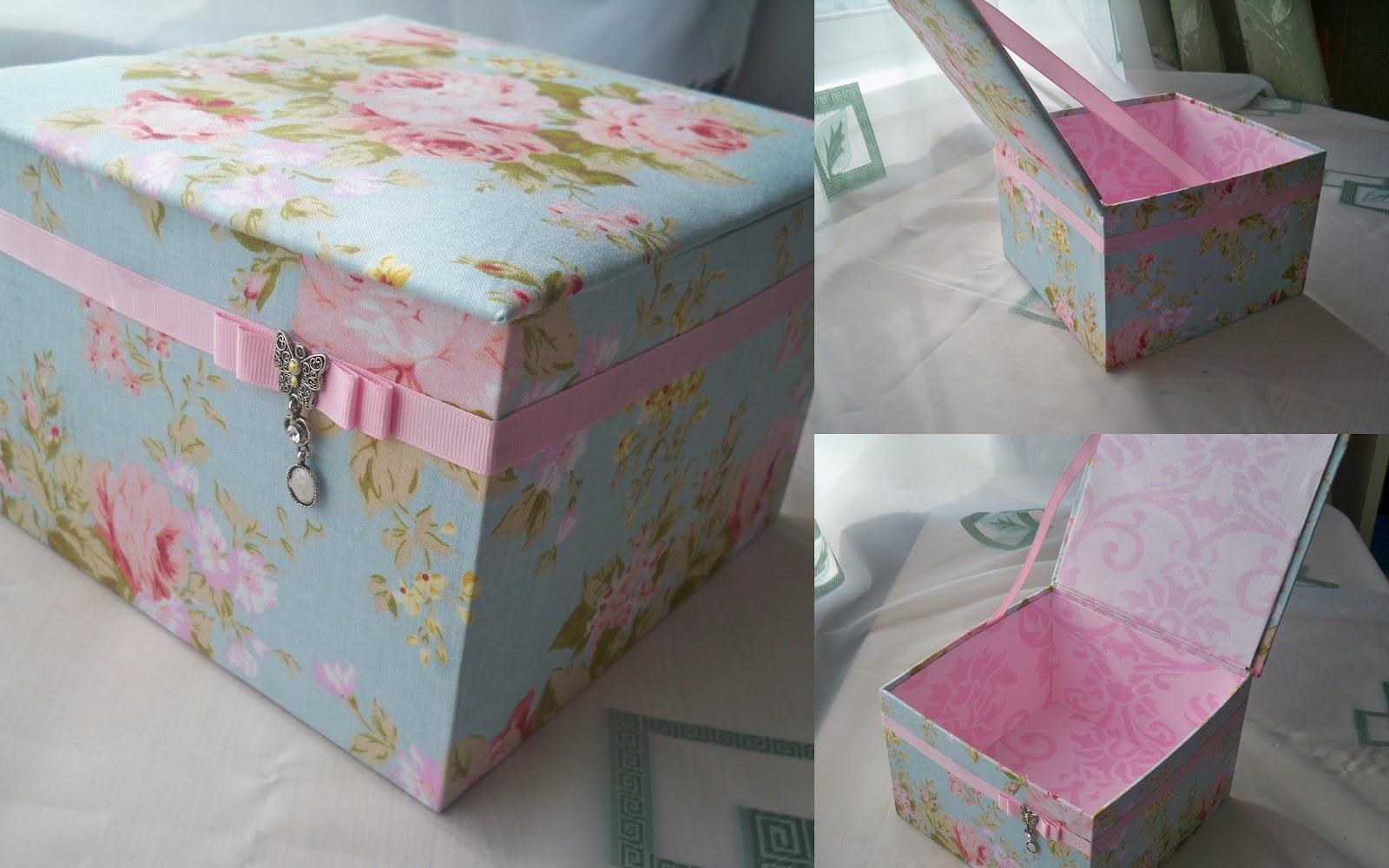 Как сделать шкатулки из коробки и ткани