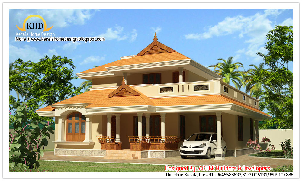 204 Square meter (2200 SqFT.) Kerala Style House Architecture