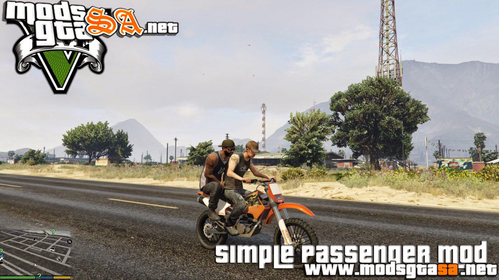V - Mod Passageiro para GTA V PC