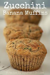 Healthy Banana Zucchini Muffins