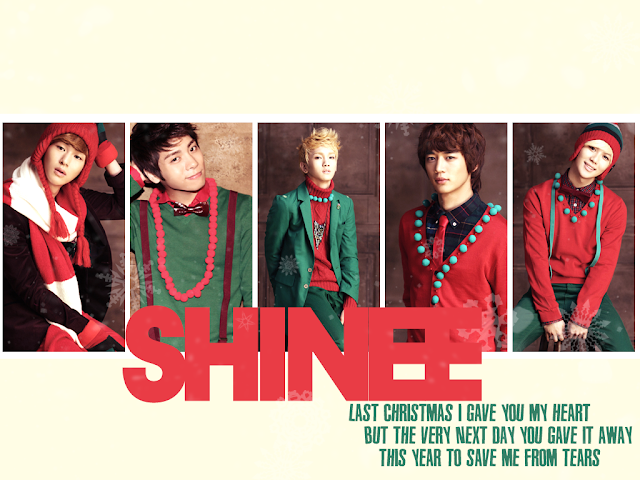 Shinee Christmas wallpaper