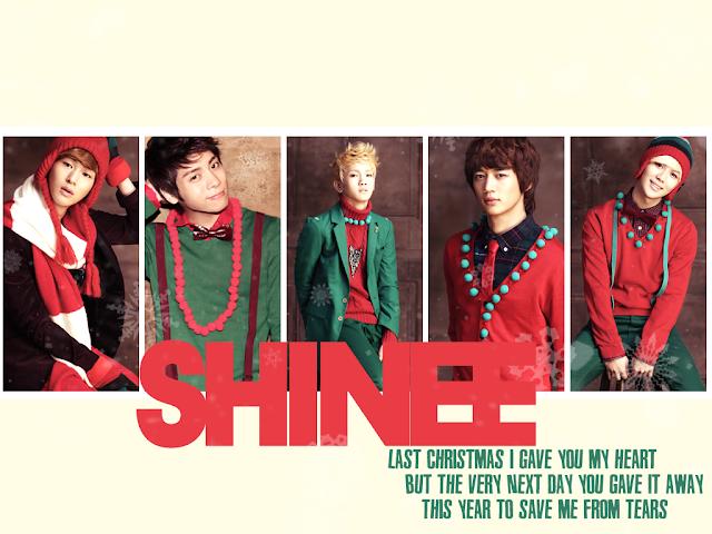 Shinee Christmas wallpaper