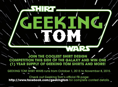 """PRESS RELEASE: Win year supply of shirts and other prizes from """"Geeking Tom Shirt Wars"""""""