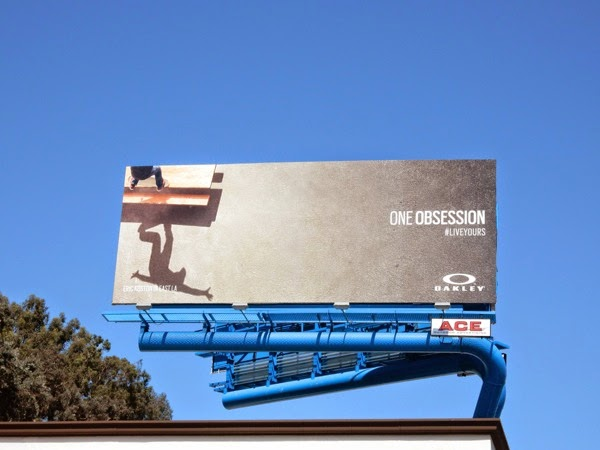 Oakley One Obsession skateboard billboard