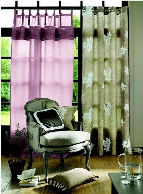 presse campagne des rideaux et des voilages originaux pour habiller les fen tres avec l gance. Black Bedroom Furniture Sets. Home Design Ideas