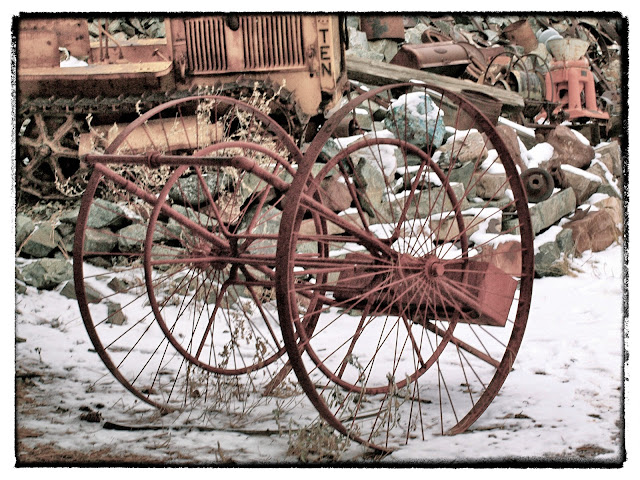 Wagon Wheels at Gold King Mine in Jerome, Arizona