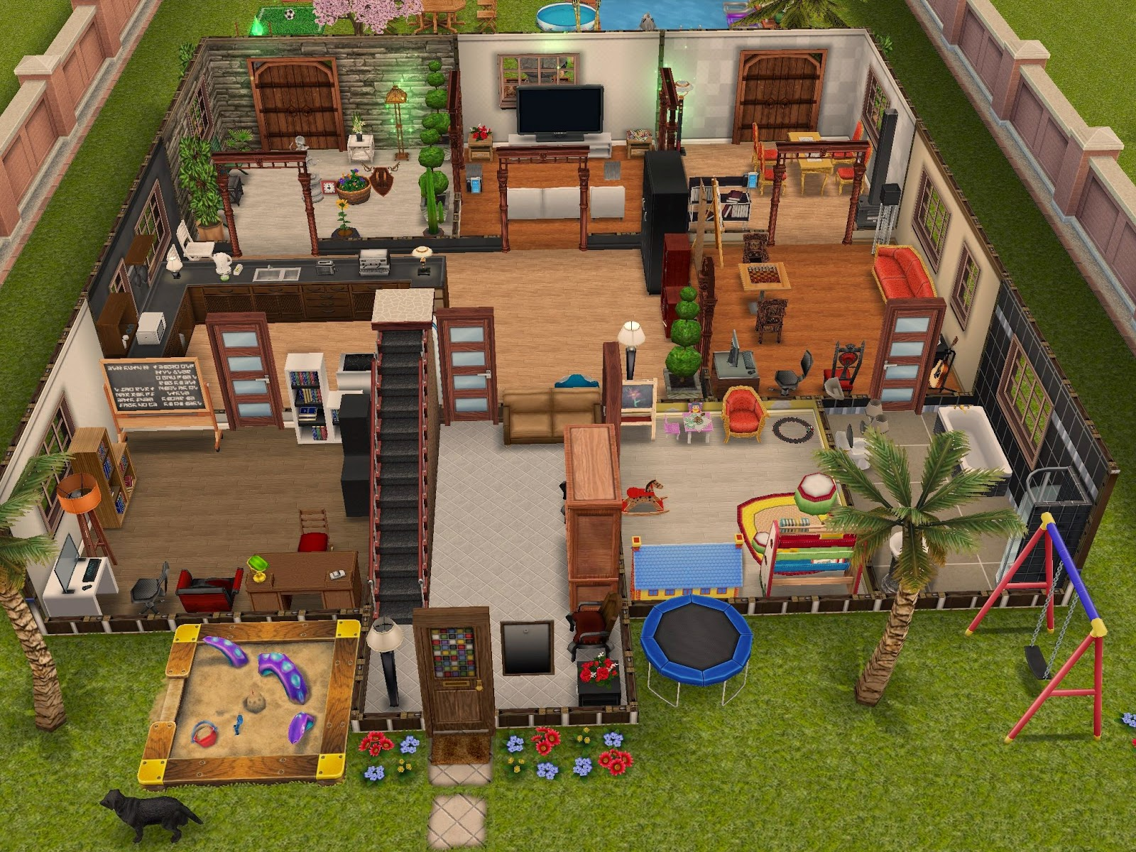 The sims freeplay when you 39 ve got enough money all the world 39 s a game - Sims freeplay designer home ...